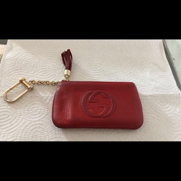 f11524de448 Gucci Accessories - Gucci key wallet. Red gucci wallet card case